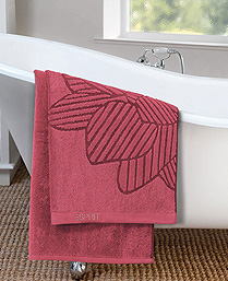 Esprit Red Cotton Terry Towels TL27002
