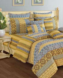 Swayam Yellow Shades Of Paradise Winter Quilts WCS011405