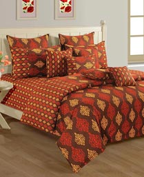 Swayam Rust & Brown Shades Of Paradise Winter Quilts WCS011443