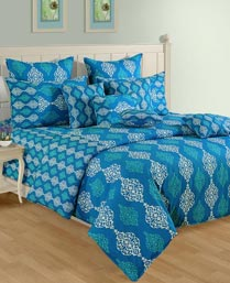 Swayam Turquoise Shades Of Paradise Winter Quilts WCS011444