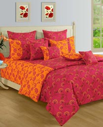 Swayam Pink & Yellow Shades Of Paradise Winter Quilts WCS011448